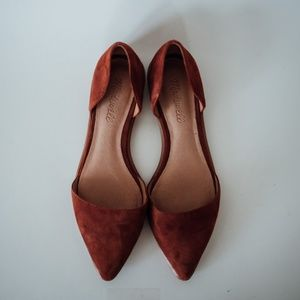 Madewell / Arielle D'Orsay Flat in Redwood Brown